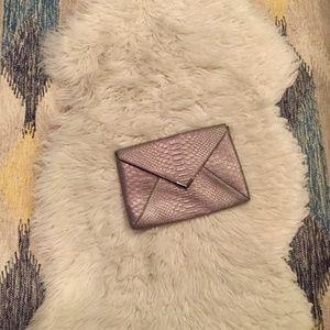 Stella & Dot Metallic Envelope Clutch